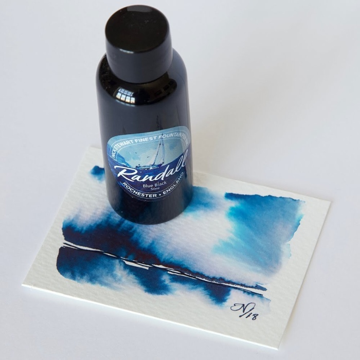 Bottle of Nick Stewart Randall Blue Black Ink