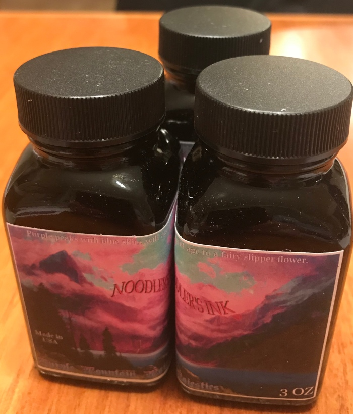 Bottle of Noodlsrs purple mountain majesty's ink